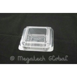 APET Clear Square Tray - Brownie, Pastry (BX-175)