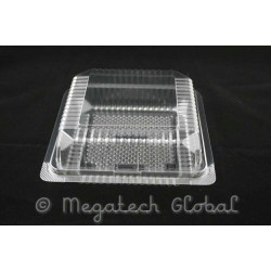 APET Clear Bakery Tray w/Hinged Lid (BX-180)