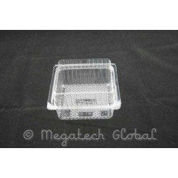 APET Clear Food Tray w/Hinged Lid (BX-186)