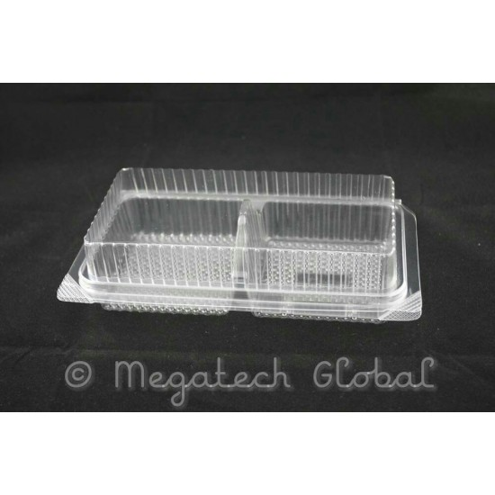 APET Clear 2-Muffine Tray w/Hinged Lid (BX-187)
