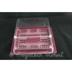 APET Maroon Base Tray w/Clear Dome Lid (BX-189)