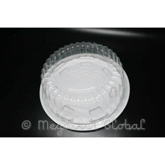 PS White Base Cake Tray w/Clear Dome - (BX-140L)