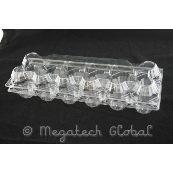 APET Clear Egg Tray - 12pcs