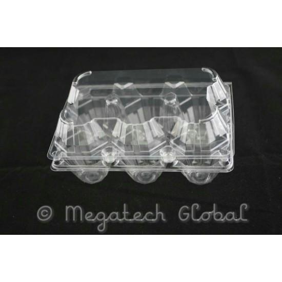 APET Clear Egg Tray - 6pcs