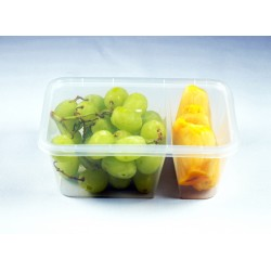 2-Compartment Lunch Box - 1000ml (RECT)