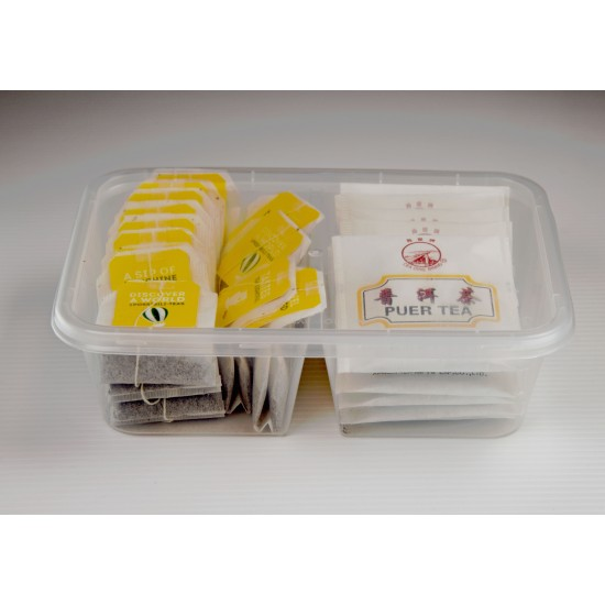 2-Compartment Lunch Box - 650ml (RECT)