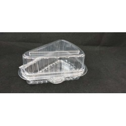 Clear Cake Slice Box - Large (BX-324)