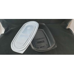 PP Blk Base Lunch Tray - Single Portion