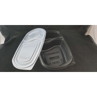 PP Blk Base Lunch Tray - 2 Portions