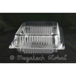 OPS Clear Bakery Tray w/Hinged Lid (OPS-C45)