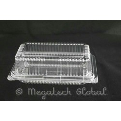 OPS Clear Bakery Tray w/Hinged Lid (OPS-H14L)