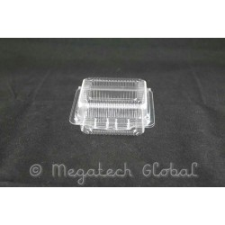 OPS Clear Single Bite Tray w/Hinged Lid (OPS-H200)